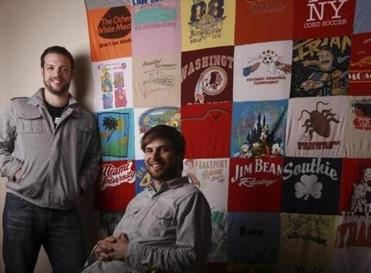 Project Repat's Nathan Rothstein (left) and Ross Lohr at their Roxbury headquarters.